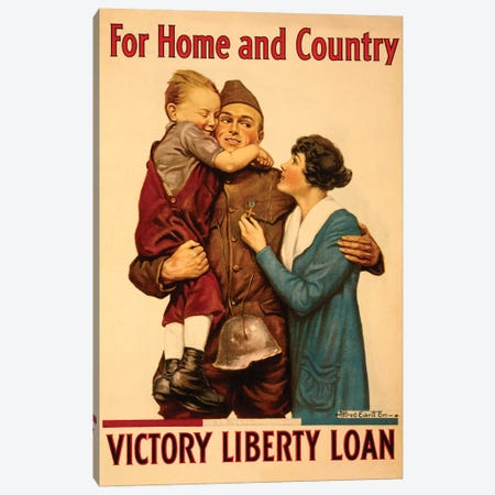 Victory Liberty Loan, WWI Canvas Print #VAC2109} by Vintage Apple Collection Canvas Wall Art