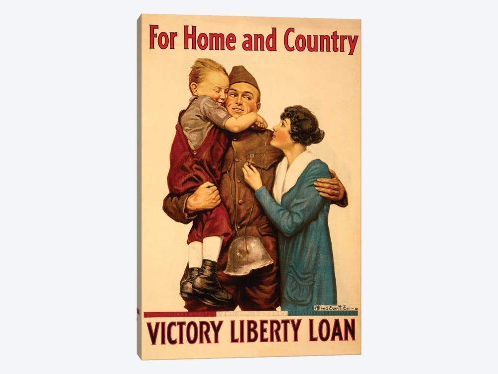 Victory Liberty Loan, WWI by Vintage Apple Collection 1-piece Canvas Wall Art