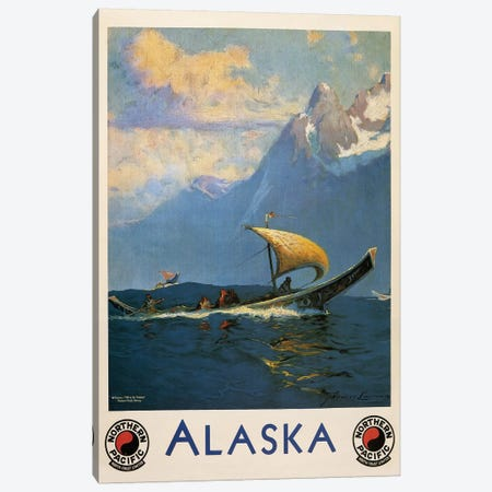 Vintage Alaska, Northern Pacific Railway Canvas Print #VAC2111} by Vintage Apple Collection Canvas Print
