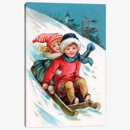 Vintage Christmas I Canvas Print #VAC2112} by Vintage Apple Collection Canvas Art Print