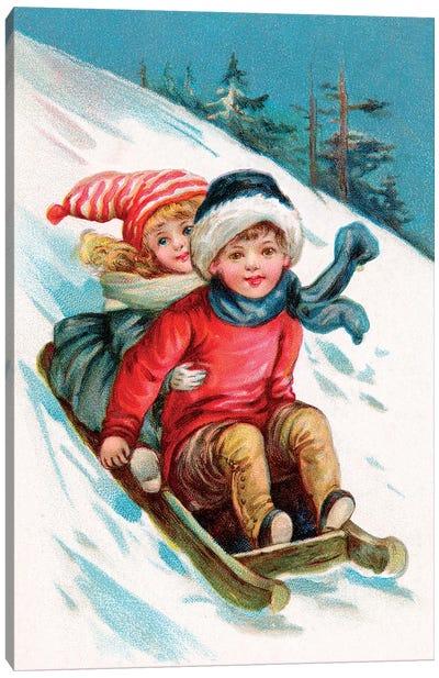 Vintage Christmas I Canvas Art Print
