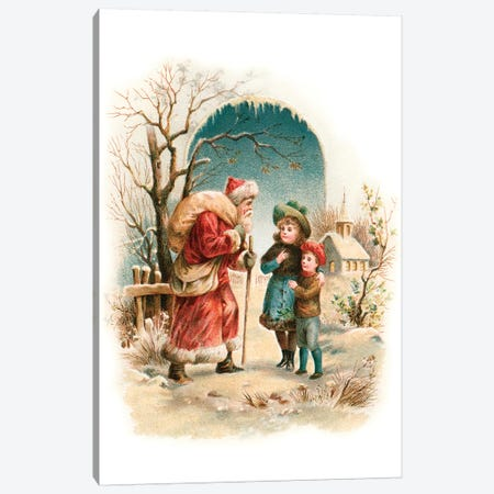 Vintage Christmas IV Canvas Print #VAC2115} by Vintage Apple Collection Canvas Art