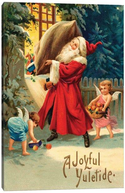 Vintage Christmas V Canvas Art Print