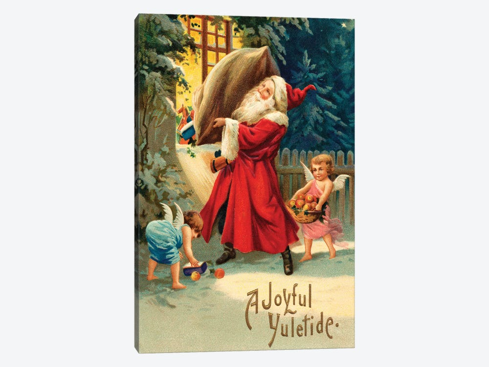 Vintage Christmas V by Vintage Apple Collection 1-piece Canvas Print