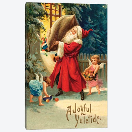 Vintage Christmas V Canvas Print #VAC2117} by Vintage Apple Collection Canvas Wall Art