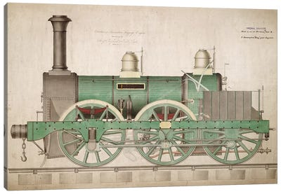 Vintage Train I Canvas Art Print