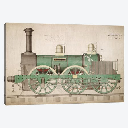 Vintage Train I Canvas Print #VAC2119} by Vintage Apple Collection Canvas Art Print