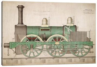 Vintage Train I Canvas Art Print