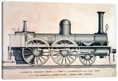 Vintage Train II Canvas Art Print