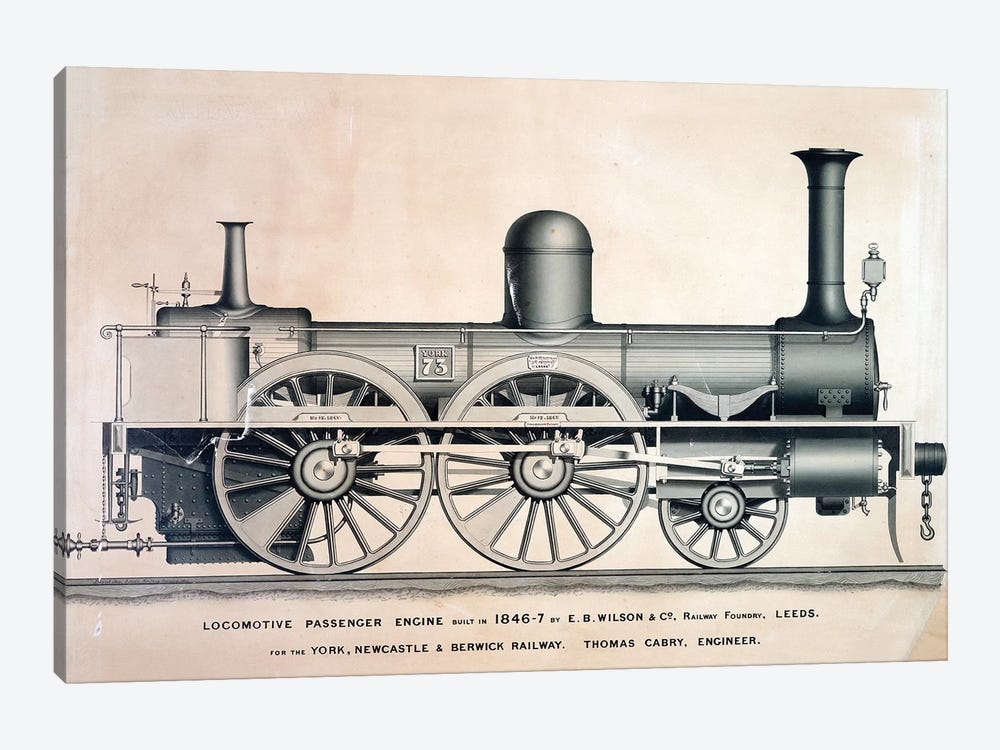 Vintage Train II by Vintage Apple Collection 1-piece Canvas Art Print