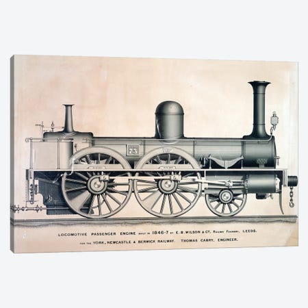 Vintage Train II Canvas Print #VAC2120} by Vintage Apple Collection Canvas Artwork