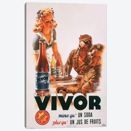 Vivor Fruit Juice Soda Canvas Print #VAC2126} by Vintage Apple Collection Art Print