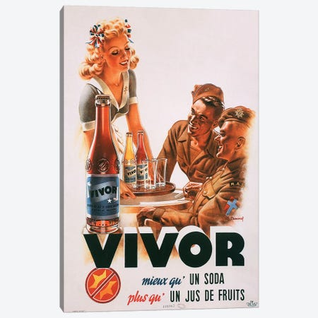 Vivor Fruit Juice Soda Canvas Print #VAC2126} by Vintage Apple Collection Art Print