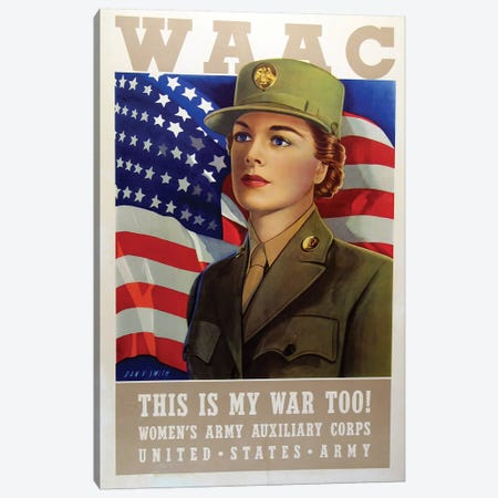 WAAC, U.S. Army WWII Era Canvas Print #VAC2128} by Vintage Apple Collection Canvas Artwork