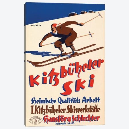 Kitzbüeheler Ski Canvas Print #VAC2129} by Vintage Apple Collection Canvas Artwork