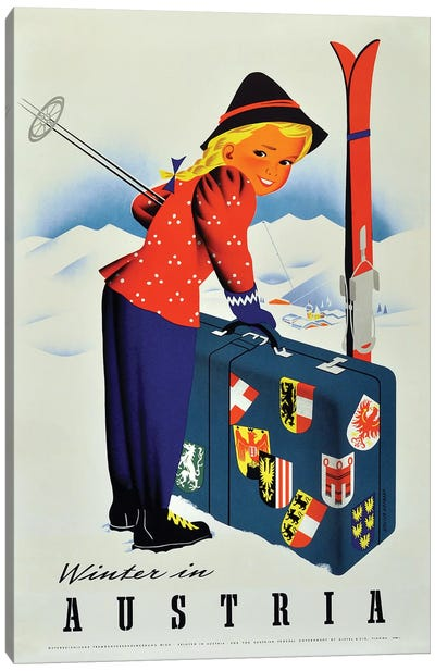 Winter In Austria Canvas Art Print