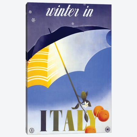 Winter In Italy Canvas Print #VAC2137} by Vintage Apple Collection Canvas Artwork