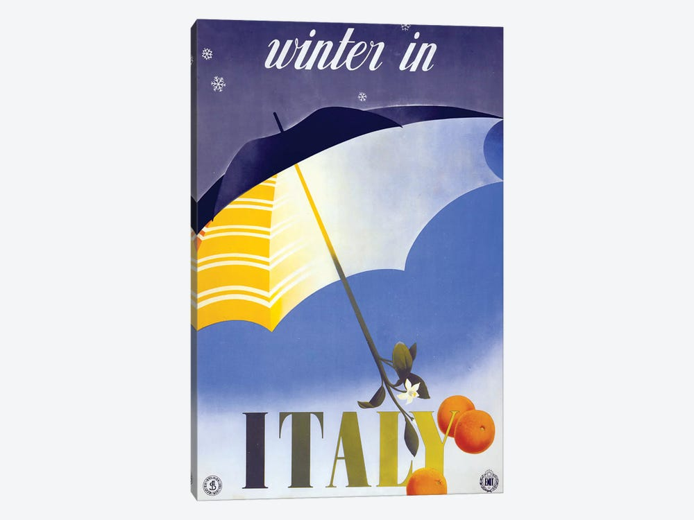 Winter In Italy by Vintage Apple Collection 1-piece Art Print
