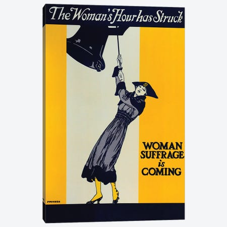 Woman Suffrage Is Coming Canvas Print #VAC2145} by Vintage Apple Collection Canvas Art Print