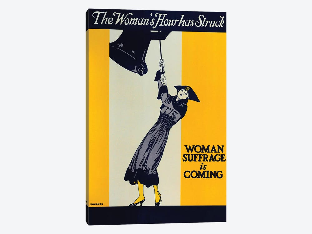 Woman Suffrage Is Coming by Vintage Apple Collection 1-piece Canvas Artwork