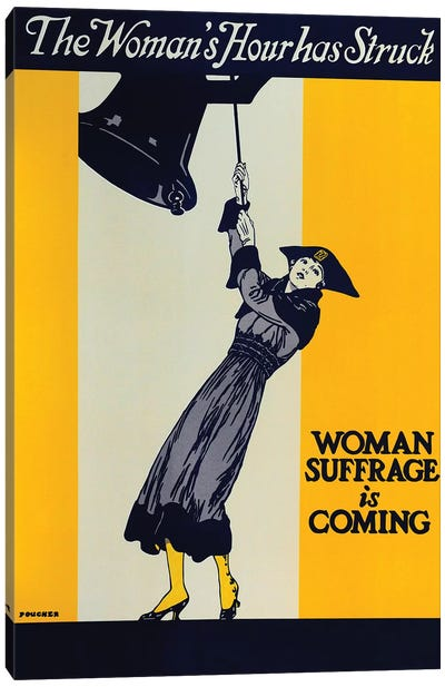 Woman Suffrage Is Coming Canvas Art Print