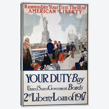Your Duty - Buy U.S. Government Bonds, 1917 Canvas Print #VAC2150} by Vintage Apple Collection Canvas Print