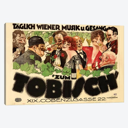 Zum Tobisch Canvas Print #VAC2165} by Vintage Apple Collection Canvas Print