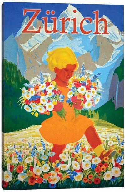 Zürich Travel Canvas Art Print