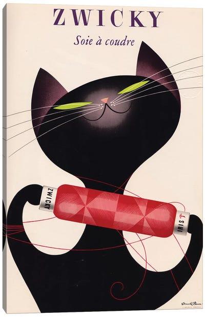 Zwicky, Black Cat Red Bottle Canvas Art Print