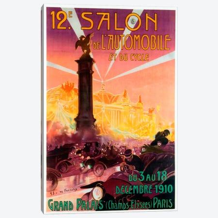 Salon de Automobile Canvas Print #VAC235} by Vintage Apple Collection Canvas Print