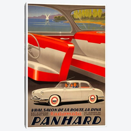 Panhard Auto Canvas Print #VAC236} by Vintage Apple Collection Canvas Art Print