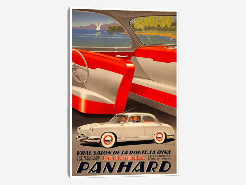 Panhard Auto by Vintage Apple Collection 1-piece Canvas Art