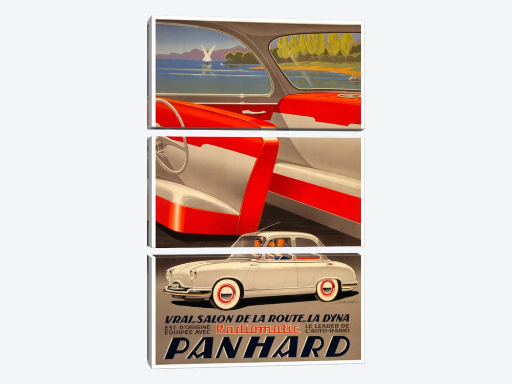 Panhard Auto by Vintage Apple Collection 3-piece Canvas Artwork
