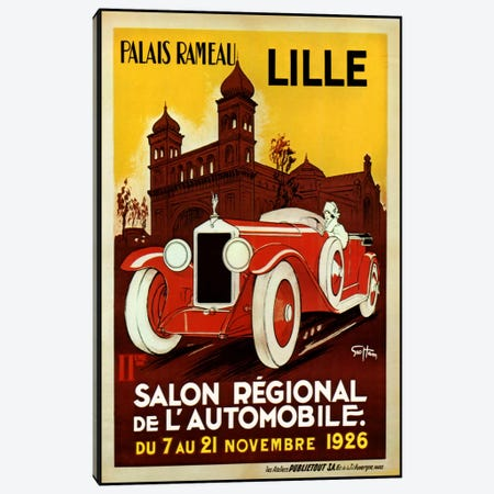 Lille Salon 1926 Canvas Print #VAC237} by Vintage Apple Collection Canvas Print