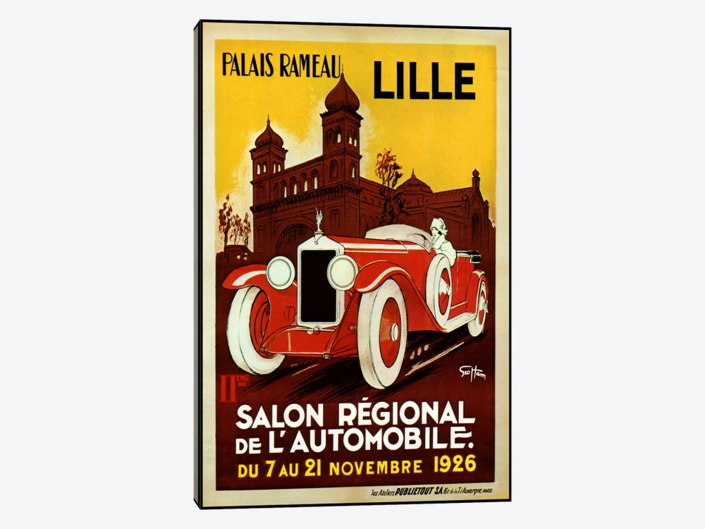 Lille Salon 1926 by Vintage Apple Collection 1-piece Canvas Art Print