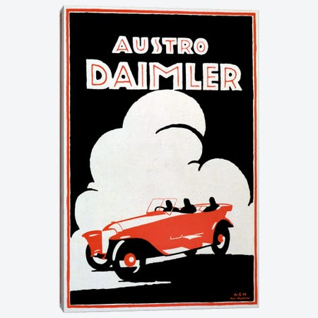 Daimler Canvas Print #VAC239} by Vintage Apple Collection Canvas Artwork