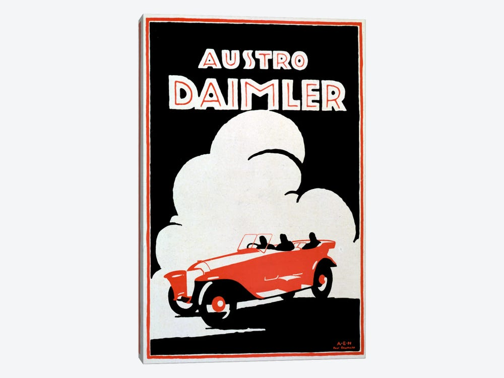 Daimler by Vintage Apple Collection 1-piece Canvas Print
