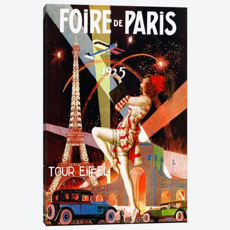 Foire de Paris Canvas Print #VAC242} by Vintage Apple Collection Canvas Art Print