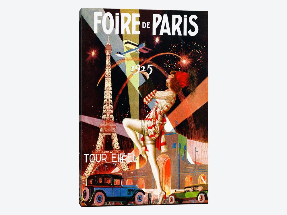 Foire de Paris by Vintage Apple Collection 1-piece Art Print
