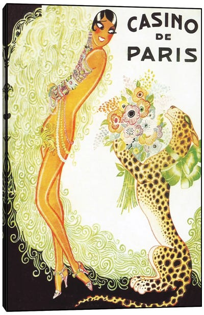 Casino de Paris, Leopard Canvas Print #VAC245