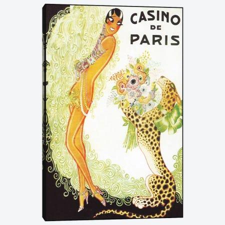 Casino de Paris, Leopard Canvas Print #VAC245} by Vintage Apple Collection Canvas Artwork