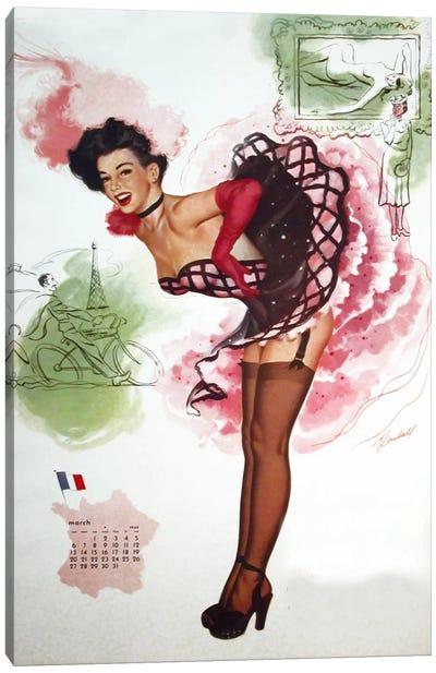French Girl Canvas Art Print