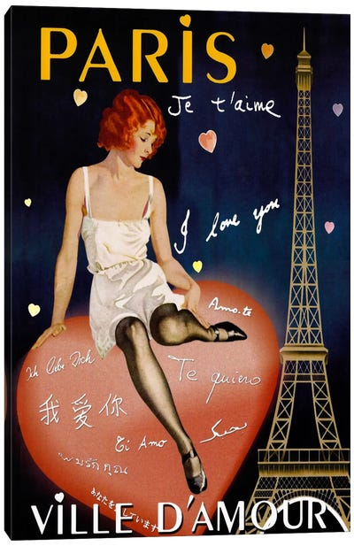 Paris I Love You Canvas Print #VAC259