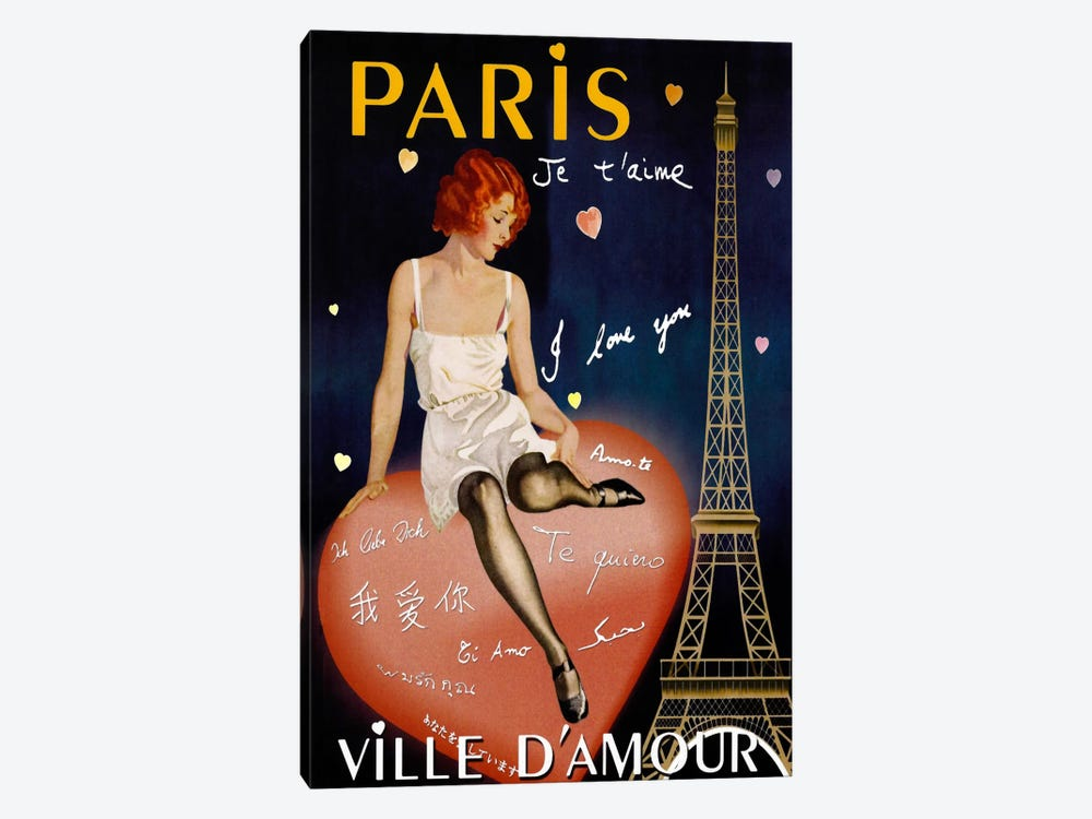Paris I Love You by Vintage Apple Collection 1-piece Art Print