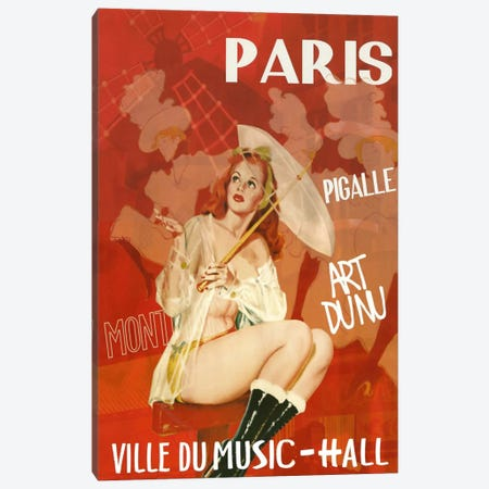 Paris Music Hall Canvas Print #VAC260} by Vintage Apple Collection Canvas Art Print