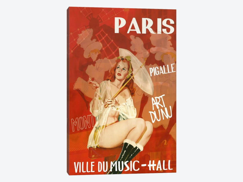 Paris Music Hall by Vintage Apple Collection 1-piece Art Print