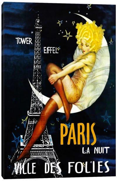 Paris Moon Canvas Art Print