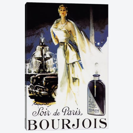 Soir de Paris Canvas Print #VAC264} by Vintage Apple Collection Canvas Artwork