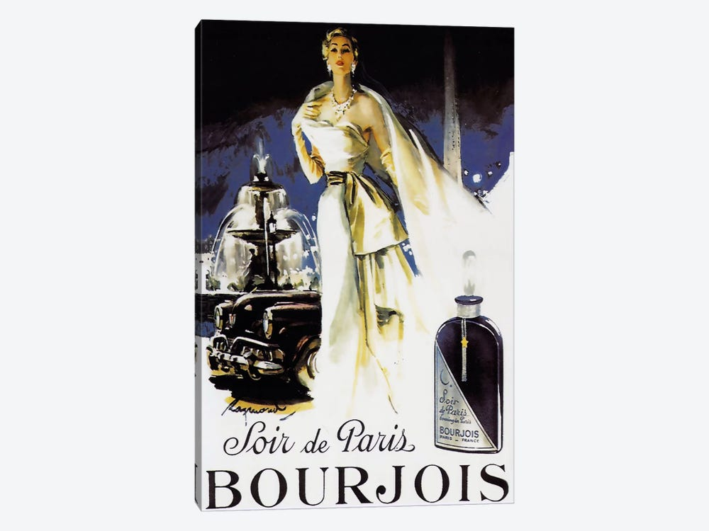 Soir de Paris by Vintage Apple Collection 1-piece Canvas Art Print