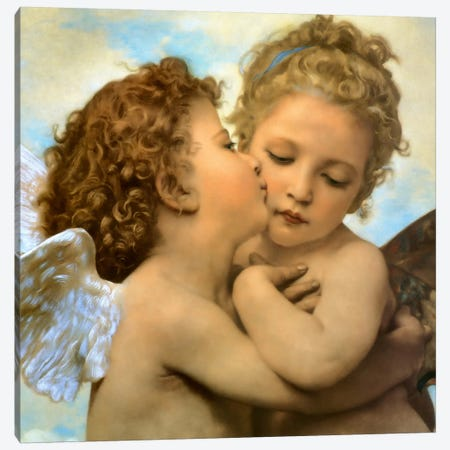 Bouguereau, Angels and cupids Canvas Print #VAC267} by Vintage Apple Collection Canvas Artwork
